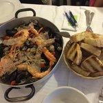 Padellata di crostacei e molluschi per due persone, molto molto buona