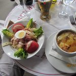 French Onion Soup and a Parisieene Salad