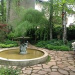 Lovely fountain in the courtyard