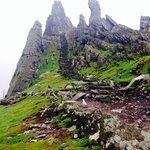 The steps across Skellig Michael