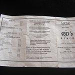 RD's menu