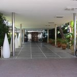 walkway into hotel