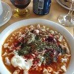 Delicious Kayseri manti at the hotel's restaurant