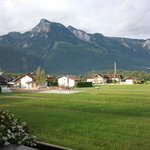 View from our room of Untersberg which you can ascend by cable car