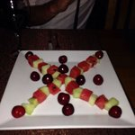 The sweetest melon and cherries; a lovely extra given to is by Orhan