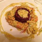 Riso rosso con gamberi al curry