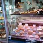 deli case and baked goods