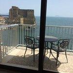 Ecco il balcone di una camera fronte mare