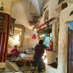 Arabic coffe in Medina - interior and staff