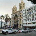 Catholic church near Tunis Medina