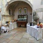 Breakfast in a beautiful courtyard