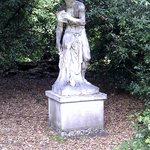 One of many statues in the woods