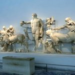 Pediment from the Temple of Zeus - battle of the Lapiths and Centaurs