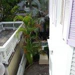 Balcony view of back yard