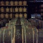 Old cognac barrels