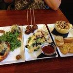 Left to Right: Mediterranean Torrada, Baked Alsur Meatballs, HOT MINI CAMEMBERT(!!!)