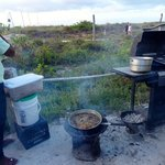 Whole fish frying