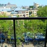 vue de la chambre située au 5 éme étage)
