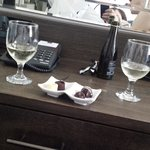 prosecco and chocolates from the complimentary mini bar