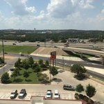 view pf six flags from room 801