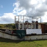 The boat to be transformed into glamping unit