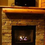 gas fireplace and flatscreen television