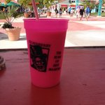 Guavaberry Piña Colada at hut as you enter/exit cruise port