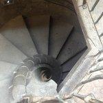 Escalera para subir al campanario