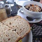 Egg BLT and oatmeal