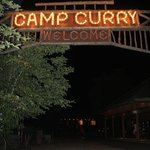 camp curry welcome sign