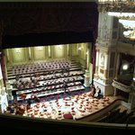 View of stage from top balcony