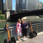 My sister and I on the river front