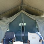 Tent from deck