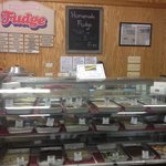 Fudge & sweets counter
