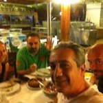 Old friends in our favourite fish restaurant in Kusadasi