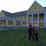 Evening at lake Yellowstone Hotel