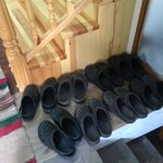 Clogs/sandals are provided at the entrance to help maintain cleanliness