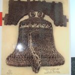 Picture of a human liberty bell at the exhibit