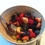 They start the breakfast off right!  Fresh berries and other fruit.