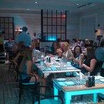 Bar/restaurant busy even late.