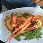 Lobster was exquisite with 4 sauces for dipping ! Fabulous!