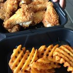 Classic wings with waffle fries