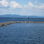 A lighthouse out on Lake Champlain