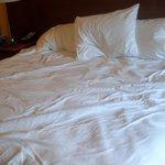 lumpy sunken bed