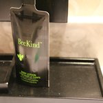 BeKind products are used in their amenity packs.