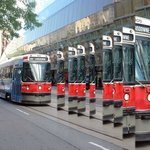 TTC makes art at AGO - building is behind streetcar