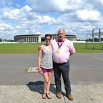 Nigel and Mollie at Olympic Stadium