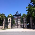 The gate to The Breakers.