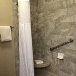 Shower with Stone like tile