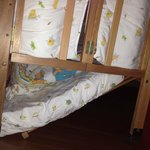 The baby cot that gave way at 2am in the morning with my baby in it!